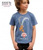 T-Shirt Swiss Alps, blau