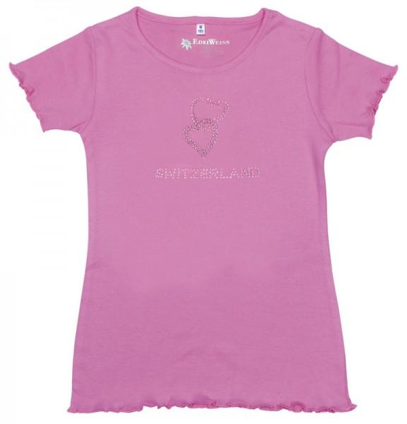 Mädchen T-Shirt Diamant Herzen,