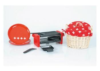 Raclette-Gerät DUO CH-Kreuz 02, rot
