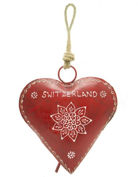 Rote Herzglocke mit Edelweiss
