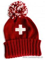 Wintermütze Schweizerkreuz, rot