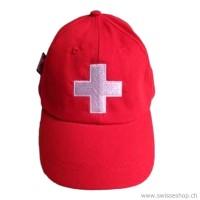 Kinder Cap rot CH Kreuz