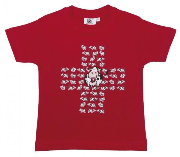 T-Shirt Milch-Kuh CH-Kreuz, rot