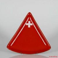 Käse Fondue-Teller Schweizerkreuz konisch