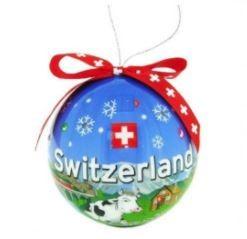 Weihnachtsdekoration - Christbaumkugel blau
