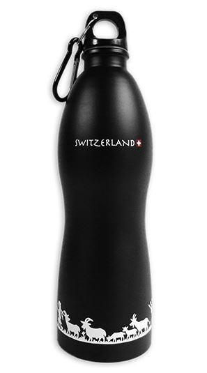 Trinkflasche schwarz SCHERENSCHNITT