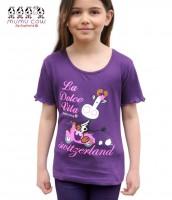 Mädchen T-Shirt Mumu Cow Dolce Vita, voilett