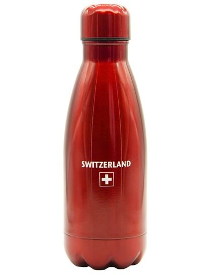 Thermosflasche Switzerland Schweizerkreuz, rot 350ml