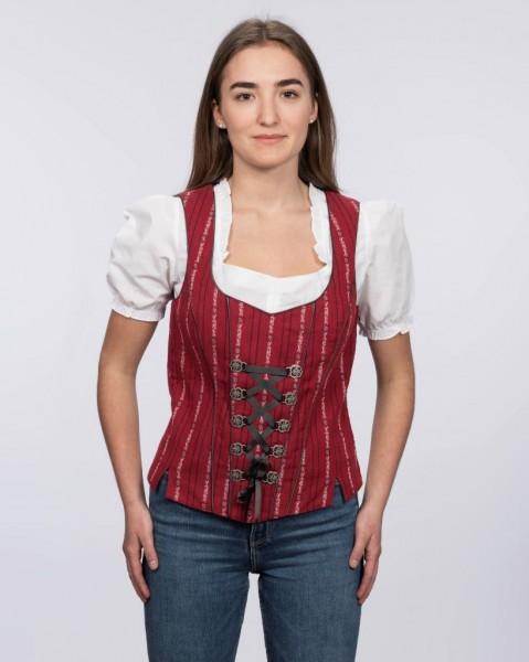 Damen Edelweiss-Bustier, rot