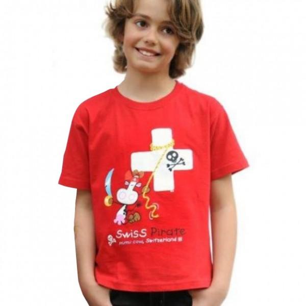 T-Shirt Mumu Cow Pirat, rot