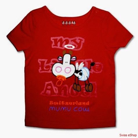 T-Shirt MUMU COW- rot