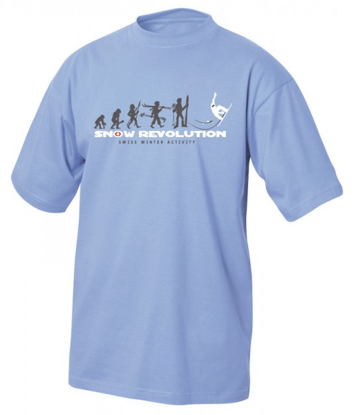 T-Shirt Snow Revolution, hellblau