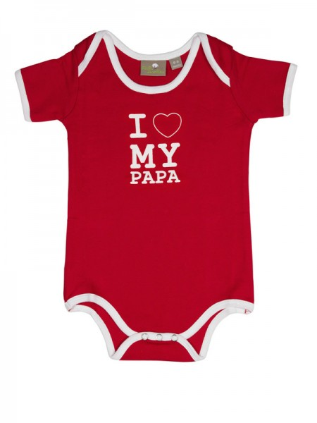 "Baby-Body ""I love my Papa"", rot"