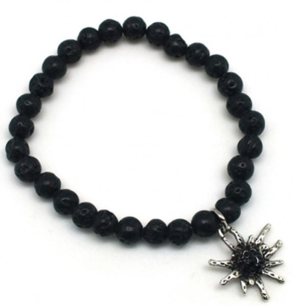 Armband Anhänger antic, schwarz