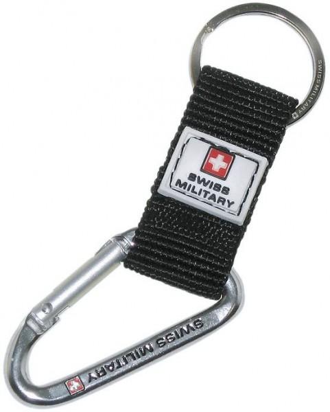 Schlüsselanhänger mit Karabiner, schwarz