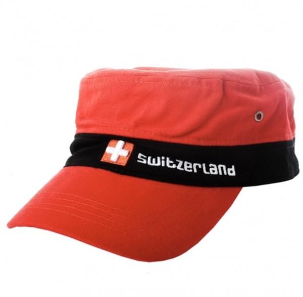 Cap Switzerland Schweizerkreuz, rot