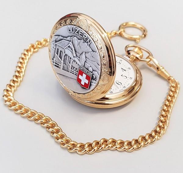 Taschenuhr Bolux 1P8 Luzern, mit Kette