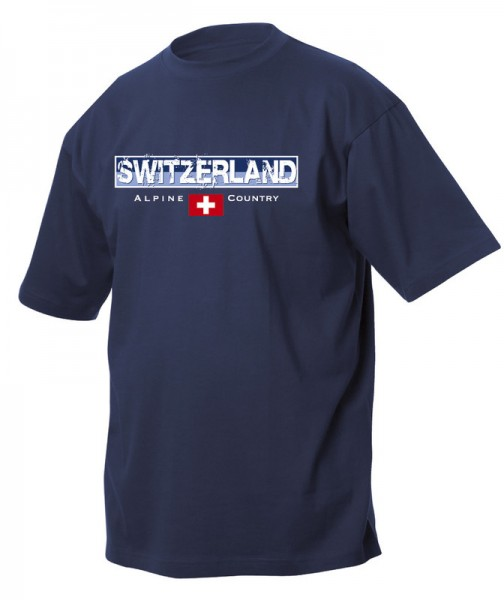 T-Shirt Alpine country, marine