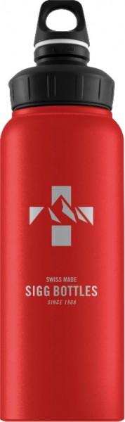 SIGG Trinkflasche WMB Swiss Emblem Red Touch, 1 L