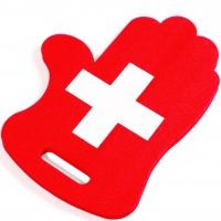 Fan-Hand und Sitzkissen Schweizerkreuz