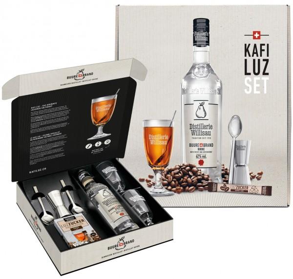 Kafi Luz Birne Distillerie Willisau Geschenkset, 62% Vol., 50 cl