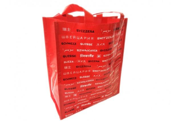 Einkaufstasche Switzerland, rot