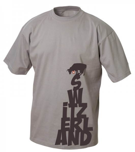 "T-Shirt ""Cow on Switerzland"", grau"