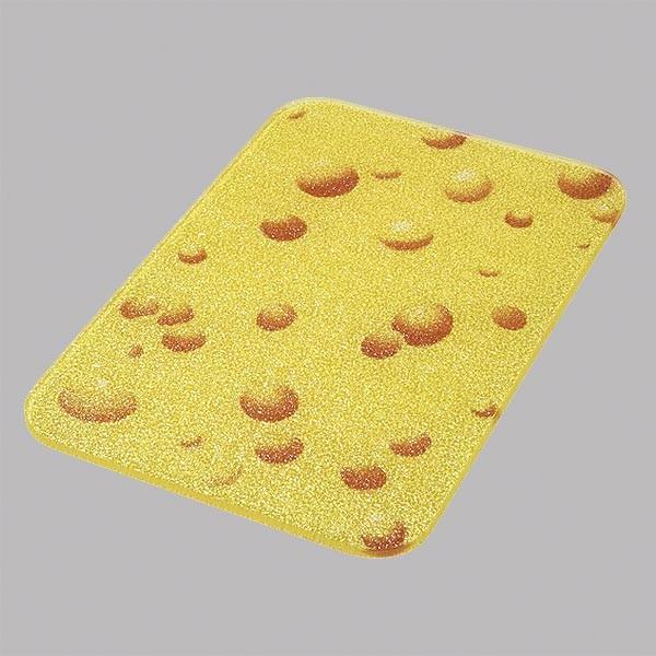 Schneidebrett, gelb mit Käse Design