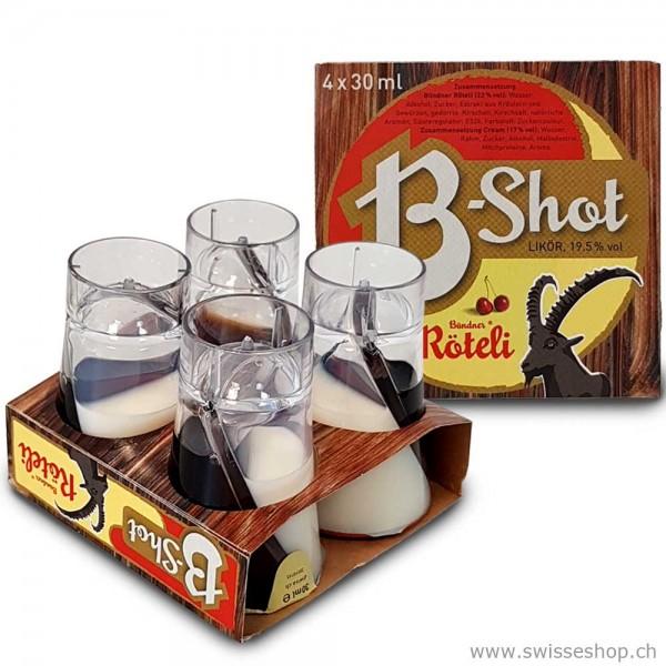 4er Miniset Bündner Röteli B-Shot 4x3 cl, 19.5% vol