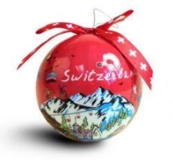 Weihnachtsdekoration - Christbaumkugel rot