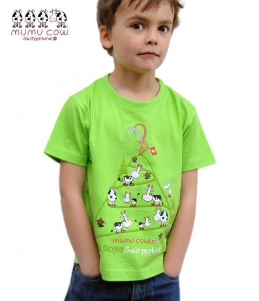 T-Shirt Mumucow Poya, grün
