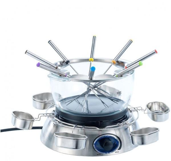 Elektrisches Fondue-Set mit Glasschale