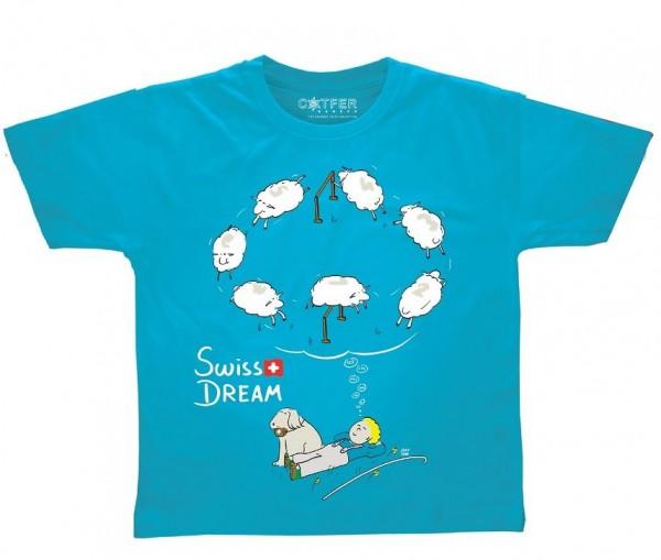 Kinder T-Shirt Swiss Dream, blau