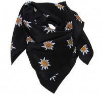 Nickituch Edelweiss schwarz, 100 % Seide