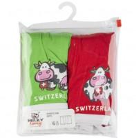 Unterhose für Jungen, Duopack, rot/grün
