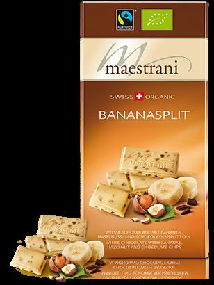 Swiss Organic Tafelschokolade BANANASPLIT 80g