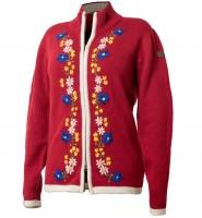 Damen Wolljacke gestrickt, rot