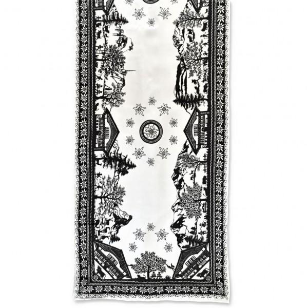 Foulard Scherenschnitt 40 x 160 cm, 100% Seide