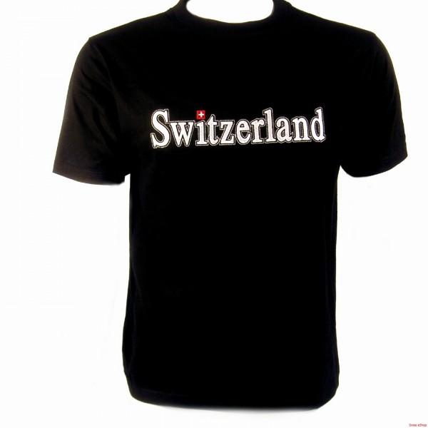 T-Shirt SWITZERLAND- schwarz