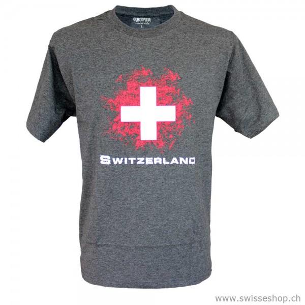 T-Shirt SWITZERLAND & Schweizer Kreuz