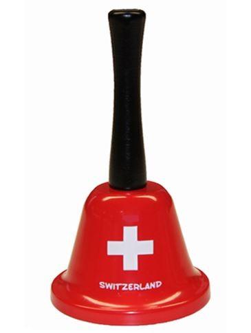 Tischglocke Schweizerkreuz, rot