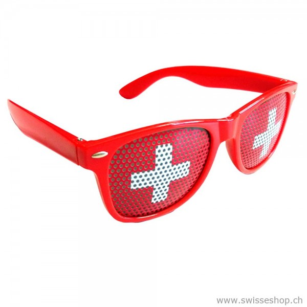 Fan brille sonnelbrille schweizerfan schweizerkreuz