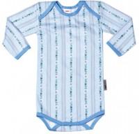 Baby-Body SCHWINGER, langarm, hellblau
