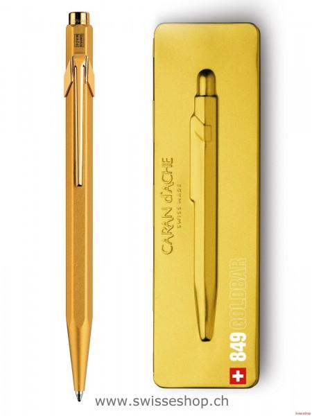 Kugelschreiber 849 Goldbar, mit Etui