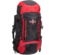Leichter Trekking-Rucksack, rot/schwarz