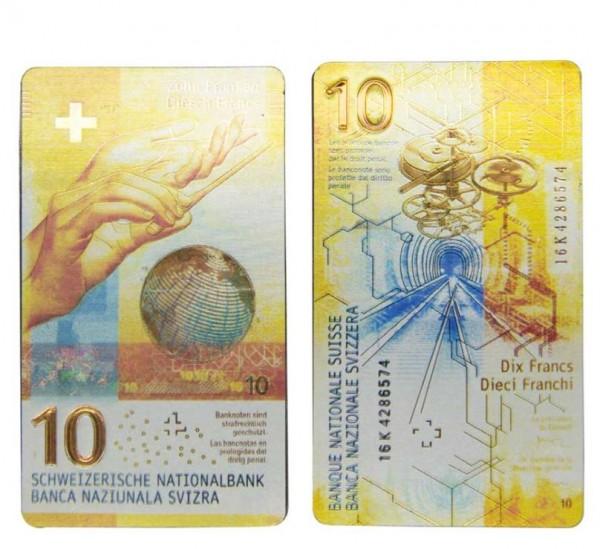 Magnet Schweizer Banknote CHF 10.-