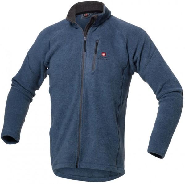 Fleece Jacke mit Brusttasche, blau