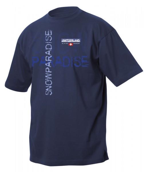 T-Shirt Snow Paradise, marine