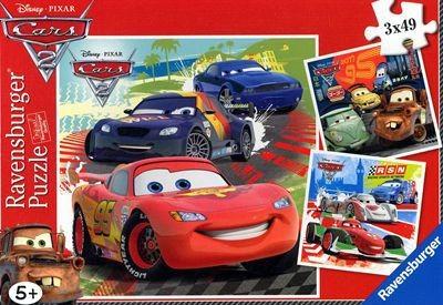 Disney Cars 2: Weltweiter Rennspass - Puzzle [3x49 Teile]