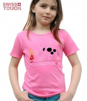 Mädchen T-Shirt Swiss princess, tailliert, rosa